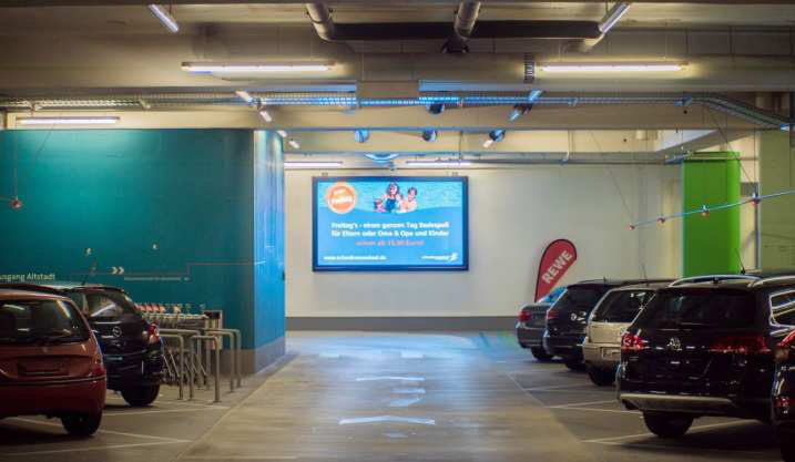 LED Board Schwäbisch Hall Kocherquartier Tiefgarage/Parkhaus